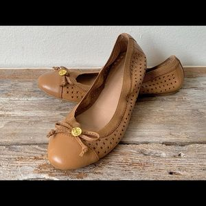 Sperry 'Elise' Tan Leather Ballet Flats